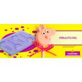 Pirulito Tema Pig Festas Forma Para Chocolates 10unidades