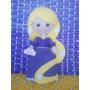 Rapunzel, 25cmts, Princesa, Peluche, Figura En Fieltro