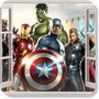 Adesivo Decorativo Janela 3d Os Vingadores Homem Ferro Hulk
