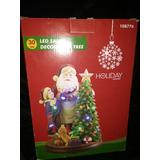 Santa Claus Árbol De Navidad Adornos Decoración Led Musical