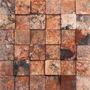 Mallas Decorativas Mosaico 3d Mármol Rojo 3d 30.5x30.5 Cm