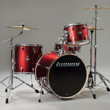 Bateria Ludwig Element Wine Red Sparkle Lcf-42r025 4 Cuerpos
