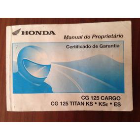 Manual Do Proprietário - Honda Cg 125 Cargo/titan Ks-kse Es