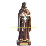 Escultura São Benedito Imagem 20c Estatua Santo Gesso Oferta