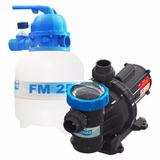 Motor Piscina Kit Filtro Bomba Sodramar 1/4cv 18 Mil Litros