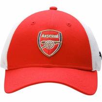 Gorra Puma Arsenal Fc Red Mesh Stretch Flex Talla L / Xl