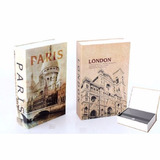Caja Fuerte Camuflaje De Libro 24cm London Paris Roma Bigben