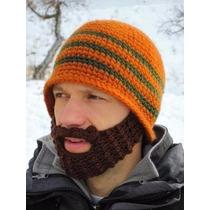 Gorro Pasamontañas Estilo Leñador Con Barba Tejida