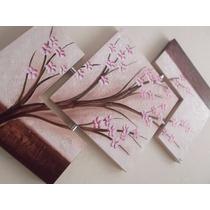 Promoção Quadro Tela Pintura A Mão Em Relevo Flor Cerejeira