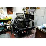 Maquina Heidelberg Tipografica Oficio, Imprime Y Troquela