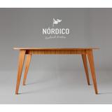 Mesa Escandinava Comedor Madera Paraiso 140 Diseño Vintage