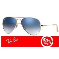 Óculos Ray Ban Aviador 3025 3026 Original C/nota E Garantia