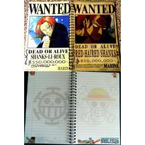 Libreta One Piece Shanks Franky Brooks Ussop Cuaderno