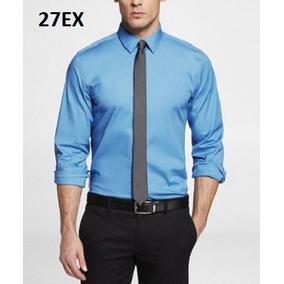 S, M, L- Camisa Express Azul C27ex Ropa Hombre 100% Original