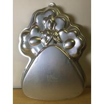 Molde Aluminio Pastel Gelatina Barbie Flores Mattel Wilton