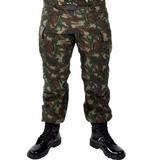 Calça Tática Rip Stop Camuflada Militar Exército Paintball