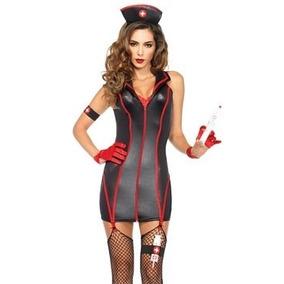 Disfraz Enfermera Negra Marca Leg Avenue Halloween