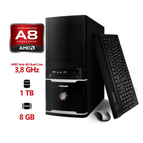Pc Premium 3 Coradir Amd A8 7650k 3.8 Ghz 8gb 1tb W8.1+kit