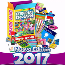 Etiquetas Escolares Personalizadas 100% Editables Kit 2017