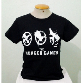 Camiseta Jogos Vorazes - The Hunger Games - Gratis Botton