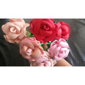 Rosas En Goma Eva Para Souvenirs O Decoración