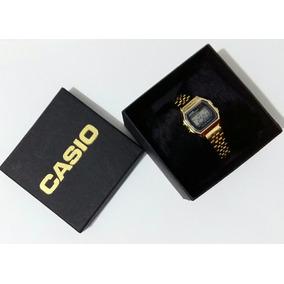 Relógio Aço Cassio Dourado Feminino + Caixa