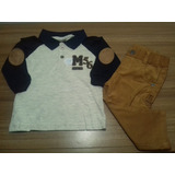 Conjunto Bebê Inverno Menino Brandili Mundi Camisa E Calça