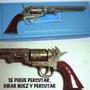 Colt Encendedor Cal. 36 Navy, 33 Cm. Y 1 Kg. Metal,colección