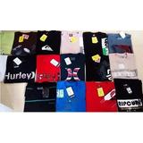 Kit Com 10 Camisas Originais Hurley, Onbongo, Oakley