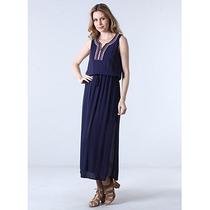 Vestido Étnico Feminino Facinelli - Marinho