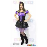 Vestido De Bruxa Fantasia Roupa Halloween Adulto - P Ao Gg