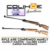 Rifle Aire Comprimido Mahely Master 5,5mm Cañon Pavonado