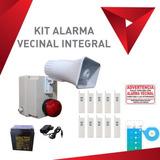 Kit Alarma Vecinal Híbrida Control Con Smartphone Y Control