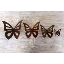 Mariposa Colgar Jardin De Hierro Oxidado Calada Chica