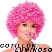 20 Pelucas Afro Colores Cotillon Luminoso Carioca Gorro