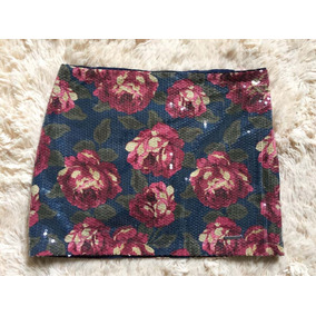 Mini Saia Paete Abercrombie Floral Feminina Importada