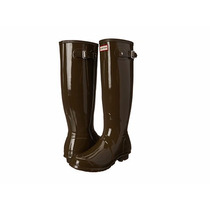 Botas Hunter Original Alta Lluvia Dama Cafe Gloss