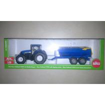 Tractor New Holland Modelo T7 + Tolva - Miniatura En Escala