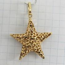 4465 Pingente Estrela De Ouro 18k 750 Y