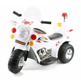 Moto Eletrica Infantil Triciclo Branca