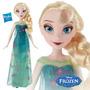 Bella Muñeca Disney Frozen Original Hasbro Elsa 30 Cm