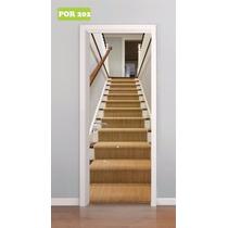 Adesivo Decorativo Porta Escada Escadaria De Madeira Mod 202