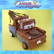 Mate - Tow Mater Cars Porcelana Fria Adorno Torta Cumpleaños