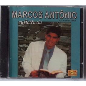 Cd Marcos Antônio Suficiência Voz E Play Back Novo Raridade