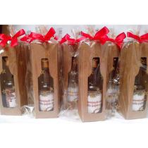 Mini Vinho Personalizado Garrafinha Vidro 50ml+caixinha