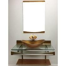 Kit Gabinete /pia/ Bancada Banheiro Estilo Astra Chopin 80cm