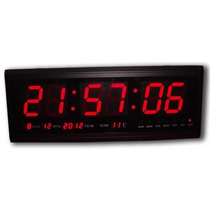 Reloj Digital De Pared Led Gigante Temperatura Local V.cresp