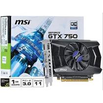 Placa De Video Nvidia Oc Edition Gtx 750 Pci-e 3.0 1gb Gddr5