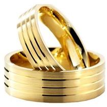 Garantia Eterna Alianças Cor De Ouro Moeda Antiga 10mm