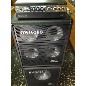 Set Kit Contra Baixo/ Amplificador/caixa 4x10/caixa 1x15,